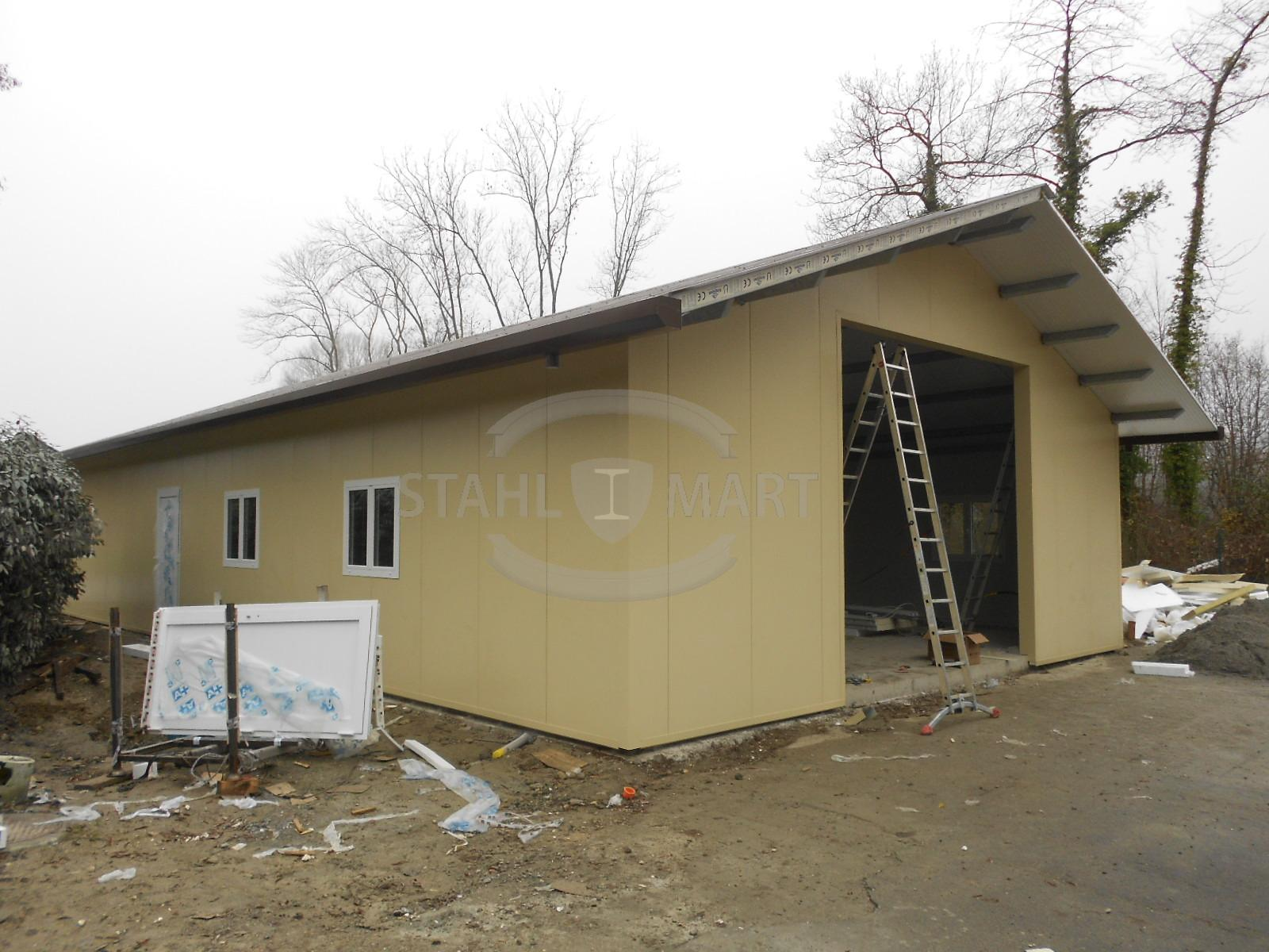 Construction en acier pour garage stahlmart for Budget pour construction garage